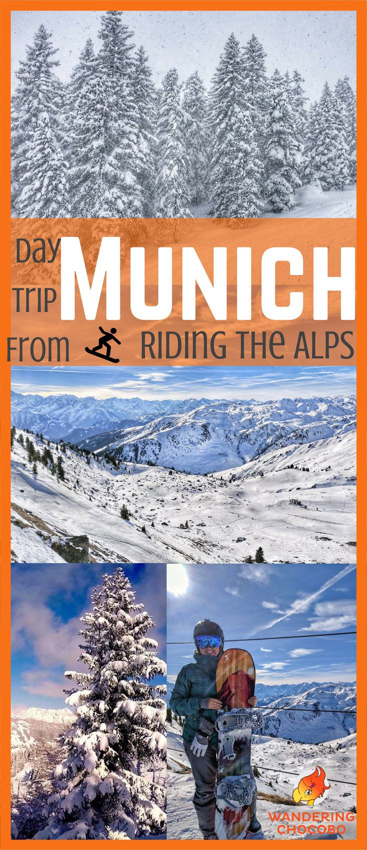 Enjoy a fun filled day of skiing or snowboarding in the German and Austrian alps with these easy day trips from Munich, Germany.