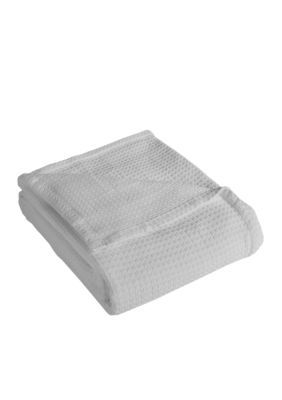 Elite Home Products  Grand Hotel Cotton Blanket - White - Full/Queen Blanket Open Stock