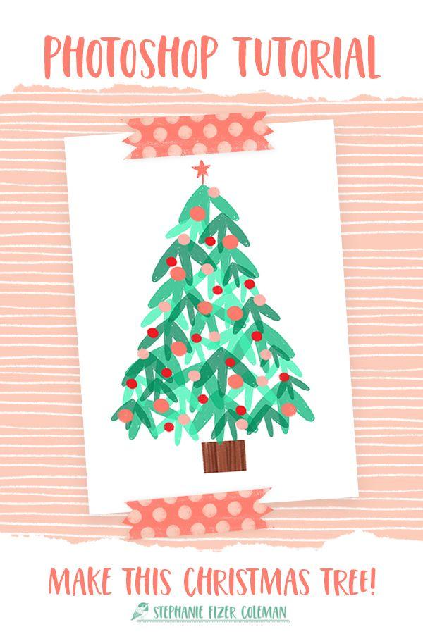 Photoshop Tutorial Christmas Tree Simple Christmas Simple Christmas Tree Christmas Tree Design