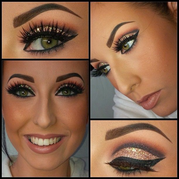 gorgeous makeup. lashes are a bit much but i love the colors and defined crease