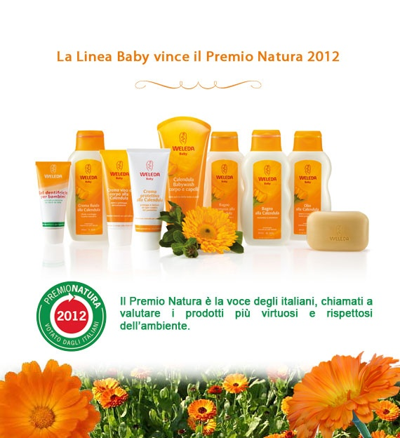 The wonderful Calendula Line by Weleda: the best for our baby skin, but also fot the adults!