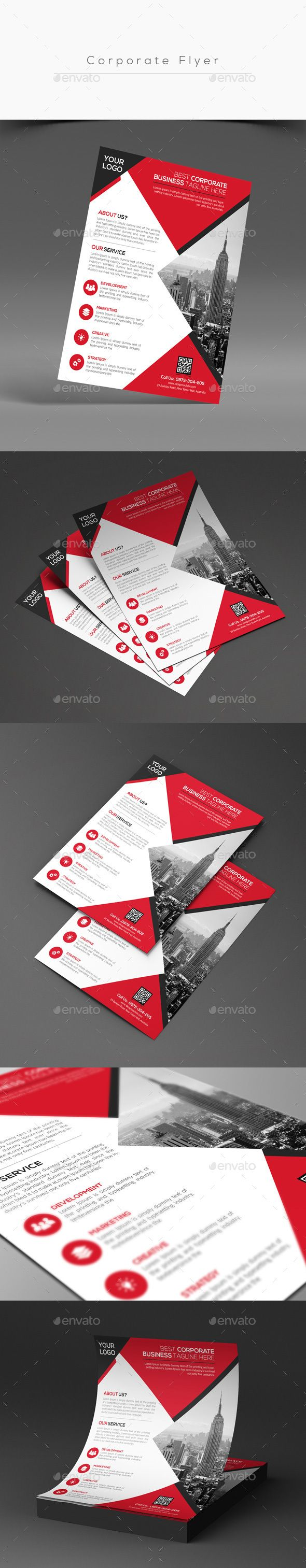Corporate Flyer Template PSD #design Download: Http://graphicriver.net/