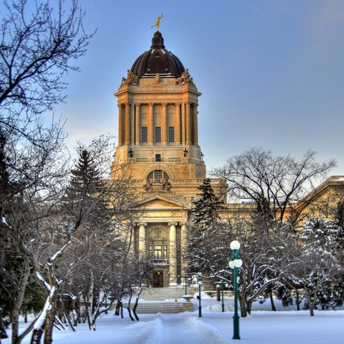 Manitoba Legislature in Winnipeg