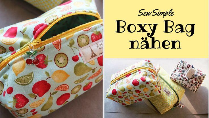 Boxy Bag – Kosmetiktasche nähen | Anleitung