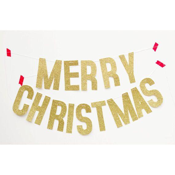 frohe weihnachten urlaub banner gold glitter christmas. Black Bedroom Furniture Sets. Home Design Ideas