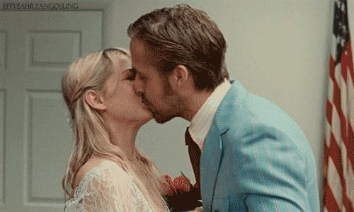 gif proof that Ryan Gosling is a good kisser