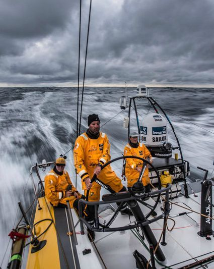 Stormy skies and serious wind at the Volvo Ocean Race. Be sure to watch the Video.
