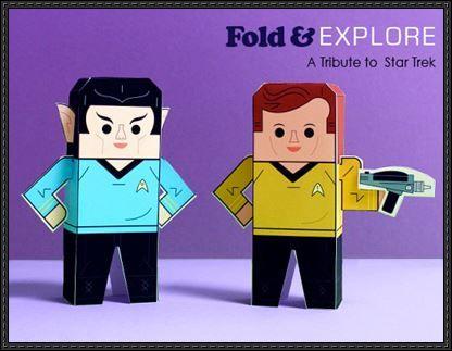 Star Trek paper crafts | New Paper Craft: Star Trek - James T. Kirk and Spock Free Paper Toys ...