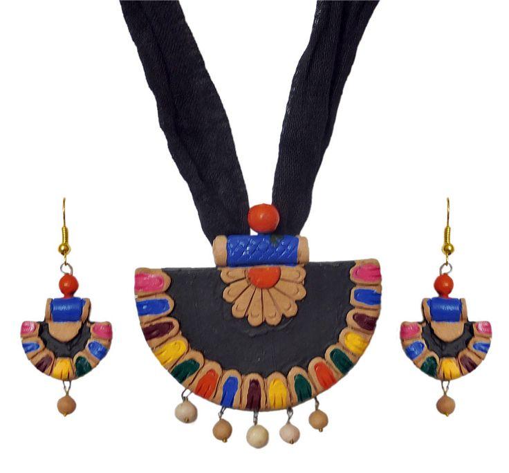 Terracotta Multicolor Fan Pendant