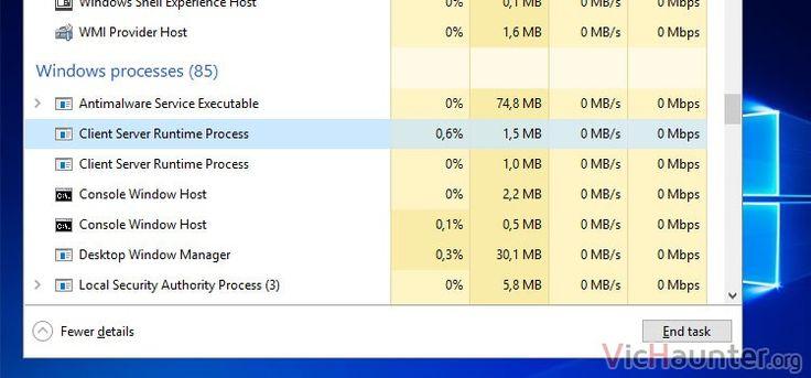 Qué es csrss.exe o Client Server Runtime Process en Windows -  Si tienes un ordenador con Windows seguro que si abres el administrador de tareas lo ves. Pero qué es el Server Client Runtime Process de Windows porque muchos dicen que si es un troyano o similar. Tal y como pasa con svchost.exe rundll32.exe ctfmon.exe o muchos otros estos servicios forman parte del sistema operativo. Lo []  La entrada Qué es csrss.exe o Client Server Runtime Process en Windows aparece primero en VicHaunter.org.