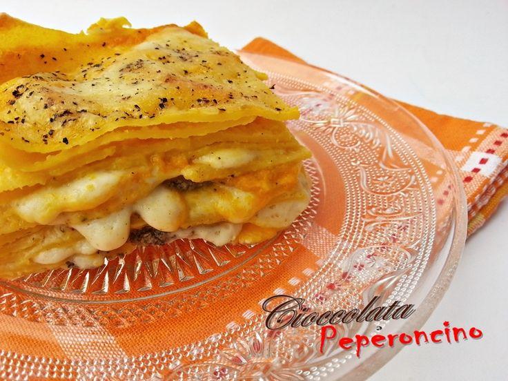 Lasagna zucca e funghi