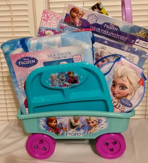 52 best gift ideas for children images on pinterest gift baskets check out this item in my etsy shop httpsetsy frozen easter basket easter basketsgift negle Images