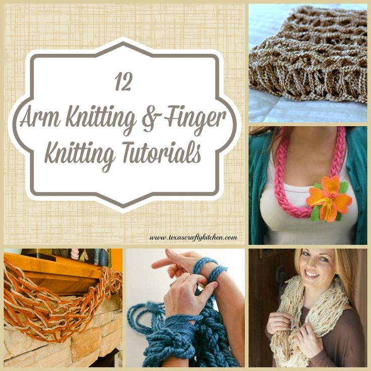 """Welcome to our first day of Hoppin' April A-Z! Today is the letter """"A"""" for Arm Knitting! We have a great collection of Arm Knitting and Finger Knitting ..."""