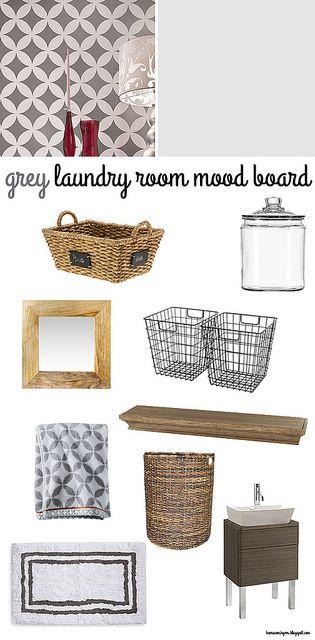 Grey Laundry Room Mood Board