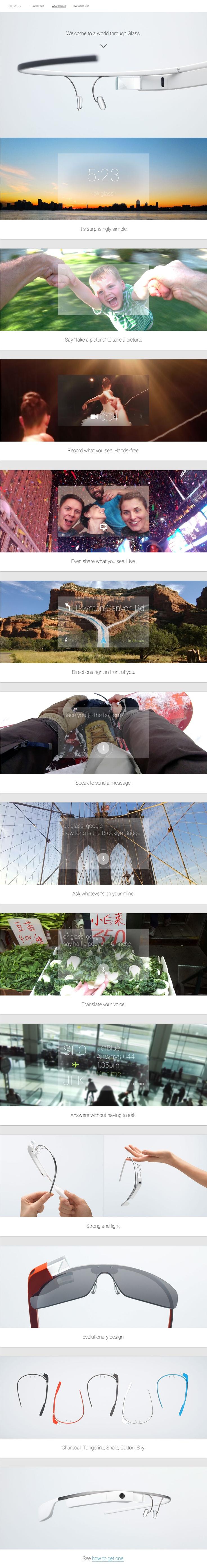 Categoria: 3 / Tags: gadget / Descrição: Primeira apresentação do Google Glass no Google I/O de 2012 (conceito e aplicação)