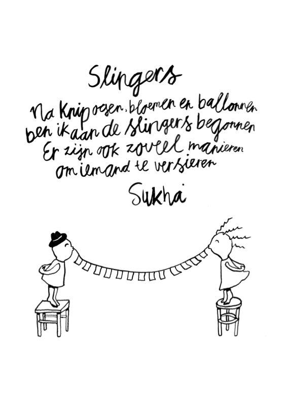 Slingers..........ga ik ook eens proberen :-)
