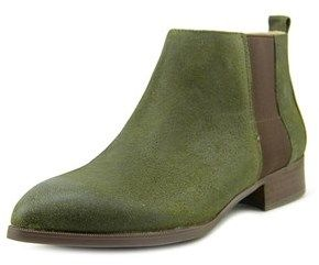 Nine West Nolynn Women Pointed Toe Leather Green Ankle Boot.