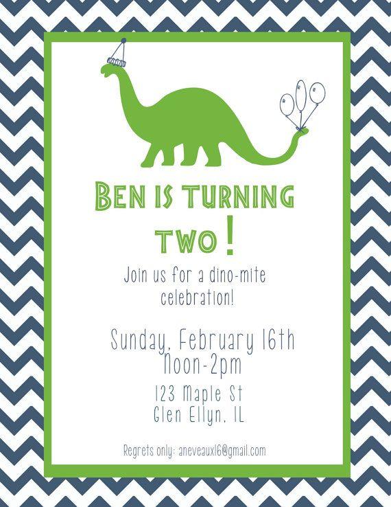 custom dinosaur dinomite birthday invitation by bccards on etsy