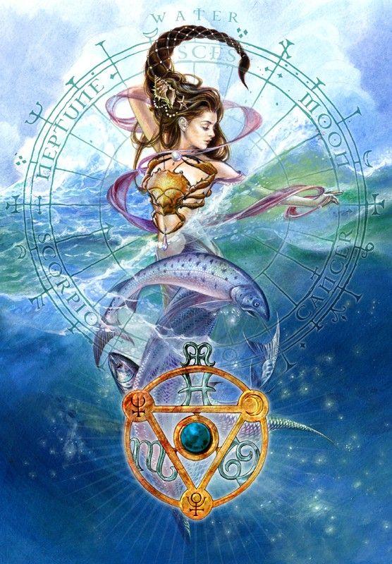 Pandantiv Talismanul elementelor - Apă