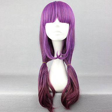 mode cartoon lila jihaihai långt rakt hår peruk 2985227 2016 – Kr.188