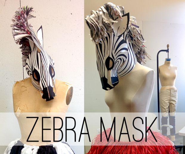 Make your own zebra mask