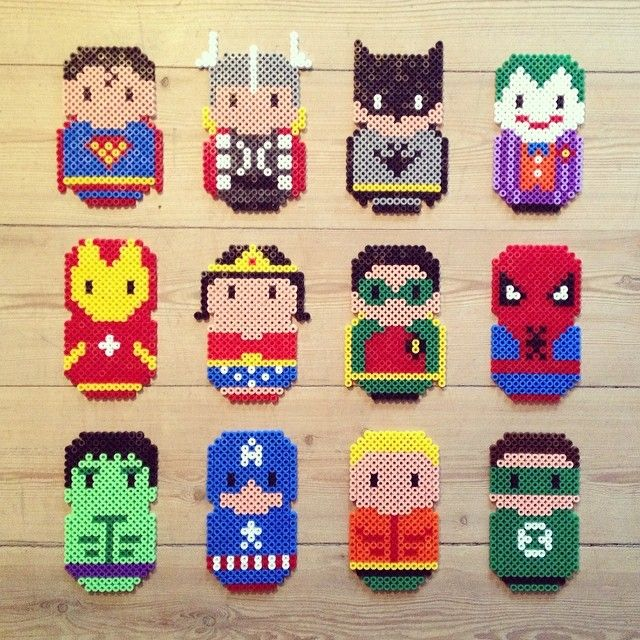 Superhero hama perler beads by fotohajen