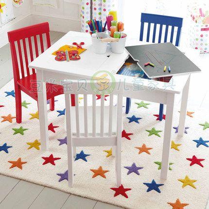 Дети учатся рисовать дерево стол игровой стол IKEA рабочие кресла ребенок питомник посвящен завод прямой