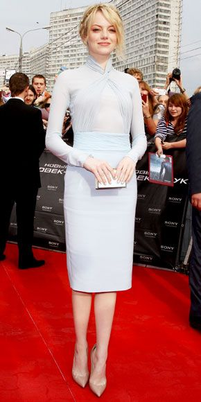 emma stone in emilio pucci - love playing lady for a day