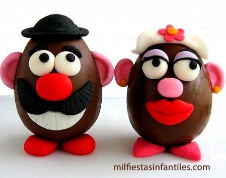 Huevos de pascua señor potato, actividades pascua niños