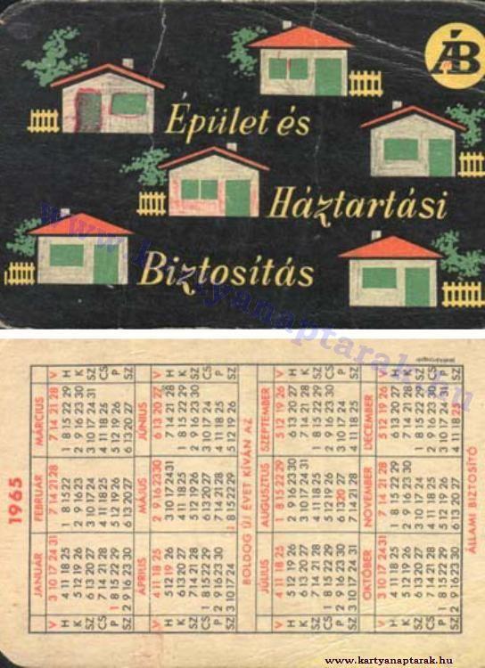 1965 - 1965_0182 - Régi magyar kártyanaptárak