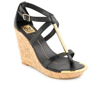 Dolce Vita Navy Suede and Cork Platforms | T strap sandals