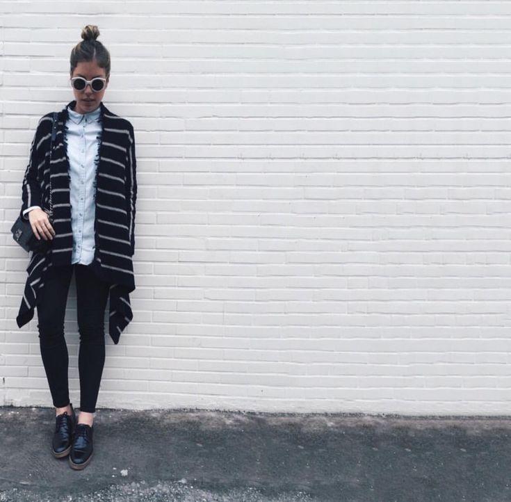 Fabiana Justus - Look listras + Jeans