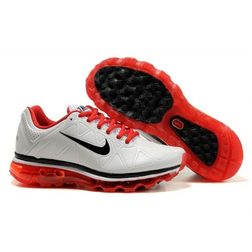 Femme Nike Air Max 2011 Leather Blanc/Rouge/Noir88,98€