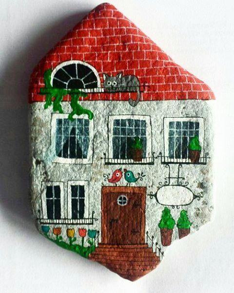 Big house 11 x 8 cm  #littlehouse #magnesy #domki ©unicatella