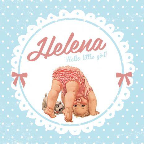 Geboortekaartje retro en superlief! <3