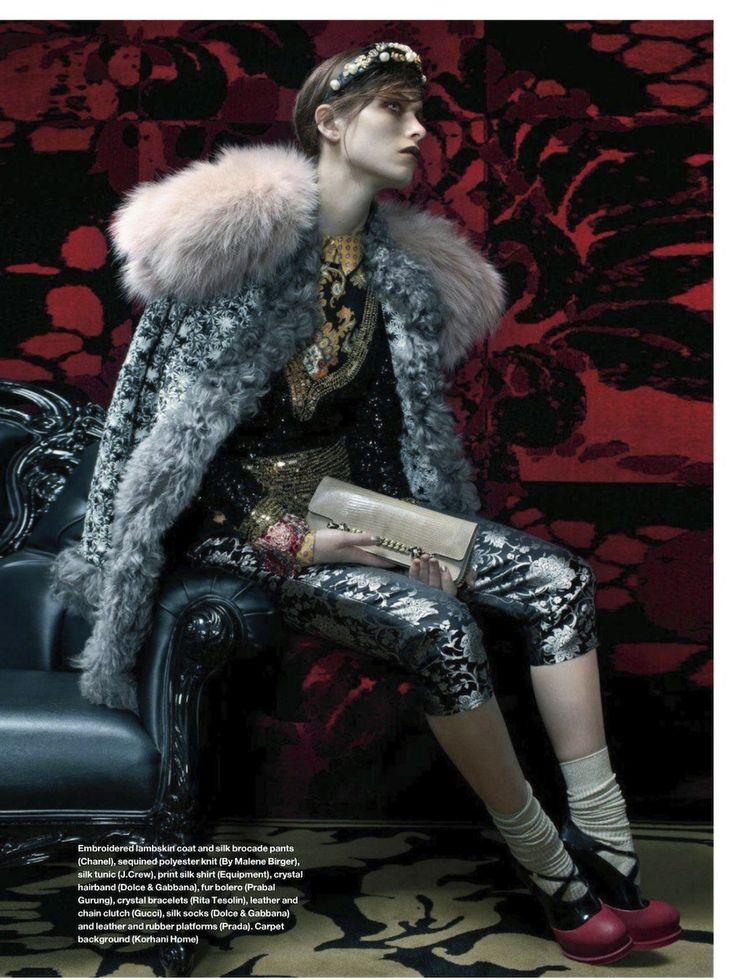 visual optimism; daily fashion fix.: royal rebel: pamela bernier by neil mota for elle canada october 2012