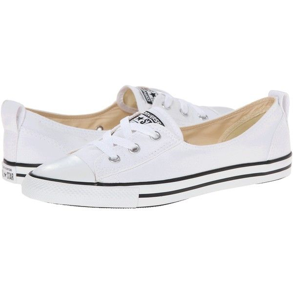 Converse Chuck Taylor All Star Ballet Lace Slip Women's Shoes, White ($40) ❤ liked on Polyvore featuring shoes, flats, white, ballet shoes, slip on shoes, all star shoes и slip-on shoes