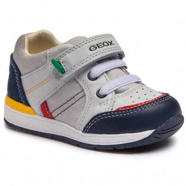Sneakers Geox B Rishon B C B920rc 08510 C0899 M White Navy Calzado Niños Zapatos Para Niñas Zapatos Hombre Moda