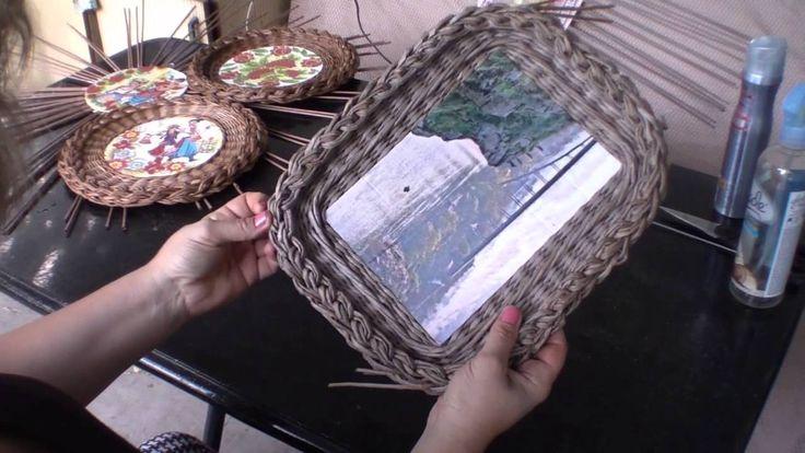 Плетеная рамочка с загибкой «Мирахелька». Часть 3.2.
