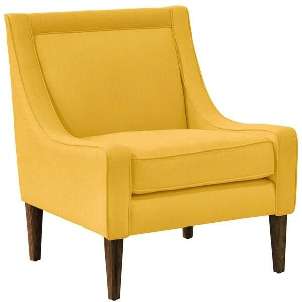 Skyline Furniture Linen Yellow Mid Century Swoop Arm Chair ($444) ❤ liked  on Polyvore - Best 25+ Armchairs And Accent Chairs Ideas On Pinterest Living