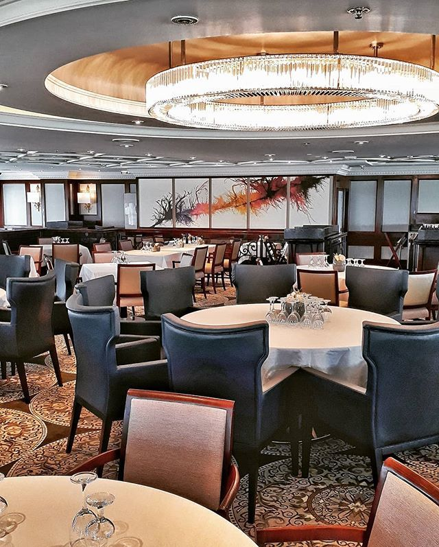cruise #photooftheday The elegant Discoveries dining room on new
