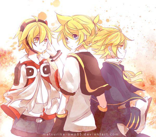 Lui Hibiki, Len Kagamine, and Oliver
