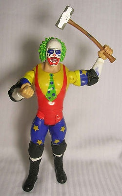 "DOINK THE CLOWN w/ Sledge Hammer - WWE WWF Loose Jakks Pacific 7"" inch figure"