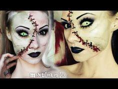 Frankenstein Makeup Tutorial (MadeYewLook) - YouTube