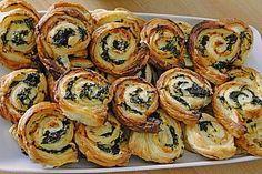 Blätterteig - Spinat - Schnecken (Rezept mit Bild)   Chefkoch.de