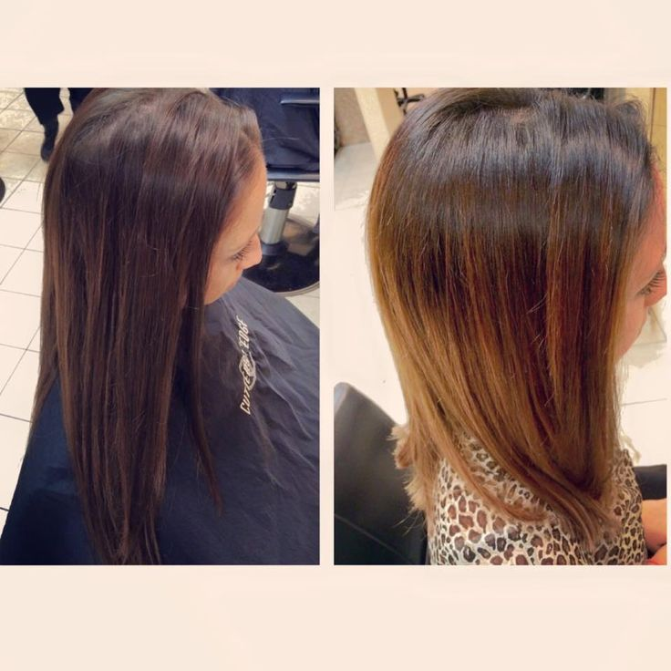Before And After Dark Brown Black Color Melt With