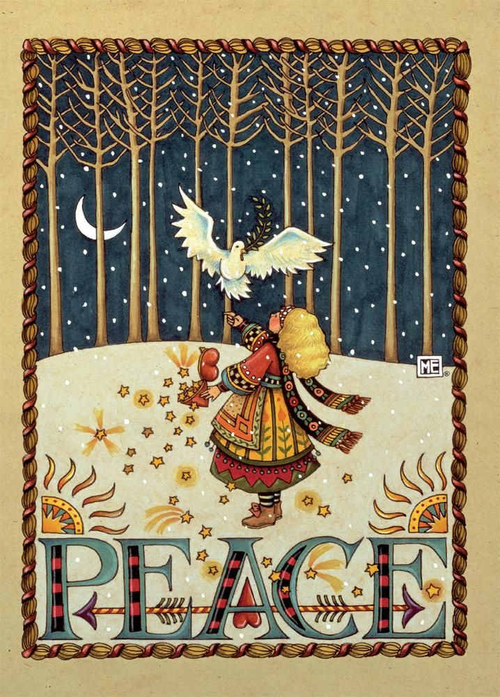 Peace Dove Boxed Christmas Card