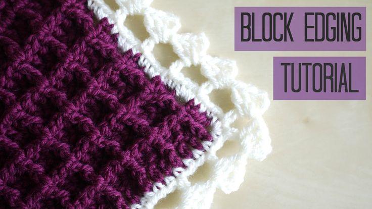 A crochet tutorial for the Block edging perfect for the waffle blanket. Waffle blanket tutorial: https://www.youtube.com/watch?v=YRnJHytHN_w Thanks for watch...