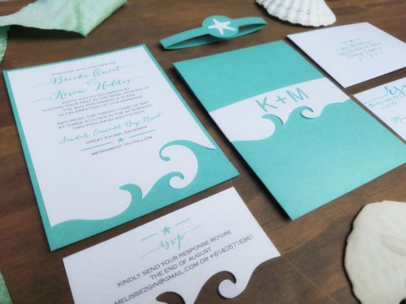 Check out this item in my Etsy shop https://www.etsy.com/listing/217848740/beach-wedding-invitation-destination