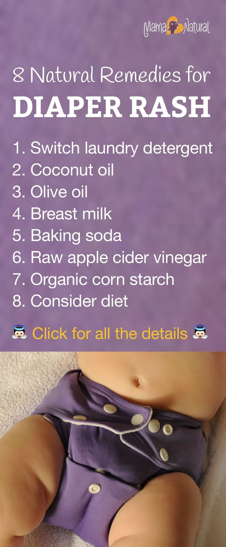 Diaper rash is par for the course with babies, but it doesn't have to be such a bummer. Here are some tips to naturally care for baby's diaper rash at home. http://www.mamanatural.com/diaper-rash/